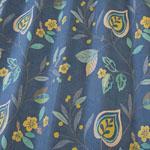 Adara Printed Fabric, Indigo, 100% cotton