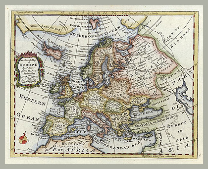 Карта Европы