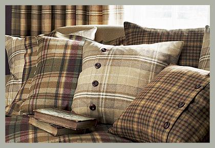 Декоративные подушки в клетку Коллекция San Byron Wools