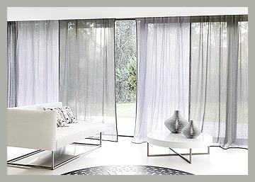 Воздушный тюль на панорамное окно