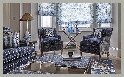 Полупрозрачные римские шторы by Designers Guild