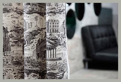 Ткань для штор жуи в интерьере by Güell Lamadrid