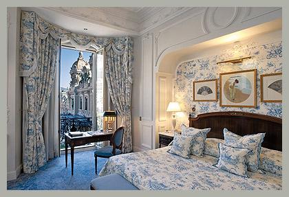 Спальня в стиле жуи Hôtel de Paris Monte-Carlo