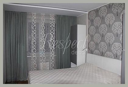 Однотонные шторы в стиле Эко by Respect-decor