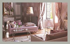 Шелковые шторы в маленькую гостиную DesignersGuild