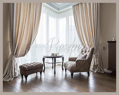 Белые шторы в гостиную